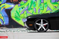 Dodge Challenger - CV3 (VossenWheels) Tags: black dodge mopar challenger matte concave vossen cv3 staggered teamvossen concavesociety