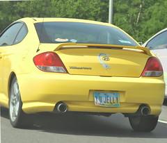 (Veee Man) Tags: columbus ohio car yellow gimp freeway customlicenseplate nikond5000 hyuandaitiburon whyyoujelly