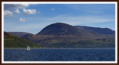 Paps of Jura with Sailboat (tor-falke) Tags: sailboat landscape islands scotland europa sony ngc scottish insel islay paysage landschaft segelboot écosse isleofjura sonyalpha alpha200 torfalke flickrtorfalke alpha200230
