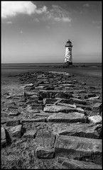 Talacre, low tide. (bevscwelsh) Tags: lighthouse talacre northwales sigma19mm sonynex6