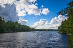 20130803-165630 - Hard Lake (HDR) (mutovkin) Tags: trees summer sky lake ontario canada water clouds forest outdoors trail daytime muskoka hdr torrance gravenhurst hardylake