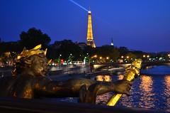 Une peu de Paris (me Photographie) Tags: city paris france tower beautiful night lens french photography lights style eiffel micro locks