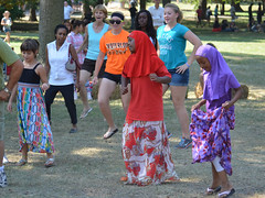 Learning a Dance (dougclemens) Tags: tower festival dance grove learn nations 2013 d5100