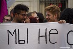2013_09_03_Tono Carbajo_06 (Fotomovimiento) Tags: barcelona gay lesbian protesta trans bi multicolor putin rusia plaasantjaume concentracio lgbti fotomovimiento movilizacionglobalporrusia rusia4love