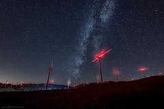The Farm (Silent G Photography) Tags: longexposure nightphotography windmill nightscape wideangle astro fisheye adobe astrophotography nik windfarm milkyway reallyrightstuff rrs 2013 nikond800 bh55lr markgvazdinskas silentgphotography tvc33 silentgphoto