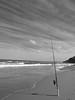 Lone Rod (Shutter_Bug27) Tags: ocean summer sky white black beach nature fishing sand waves fuji sydney rod fujifilm x10 asutralia