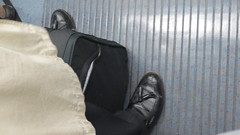 Hidden Camera - black tassel loafers! (TBTAOTW2011) Tags: camera boss man black london leather businessman subway daddy shoe shoes dad candid tube business hidden belly mature tassel loafers loafer