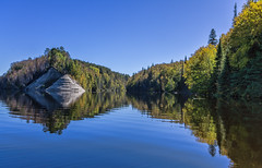 Natural Pyramid (AKA Jake Nowry) Tags: trees water reflections river pyramid montreal