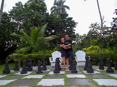 Loved playing Chess with Matt (McGinityPhoto) Tags: wedding playing love set fiji waterfall paradise honeymoon large chess august resort adventure journey dreams destination wish qamea discover aroundtheworld mattraible 2013 tavoro mcginityphoto trishmcginity