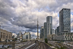 Toronto on the rails (Ben Roffelsen Photography) Tags: city sky cloud toronto reflection glass rails blogto torontoist