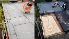 Dakdekker: Nieuw dakbeschot gemonteerd en vast gezet op de bestaande balkenlaag. Vervolgens de dakrenovatie voltooid met een nieuwe laag bitumen, 25pds loden afvoer en Roval daktrimmen