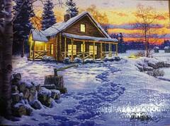 Darrell Bush- Winter Bliss 1000 PCS (sand29ii) Tags: pieces 1000 winterbliss darrellbush uploaded:by=flickrmobile flickriosapp:filter=nofilter buffalogamespuzzle