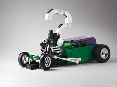 Now Riddle me this! (_Tiler) Tags: car automobile lego engine chrome question batman hotrod vehicle riddler stance