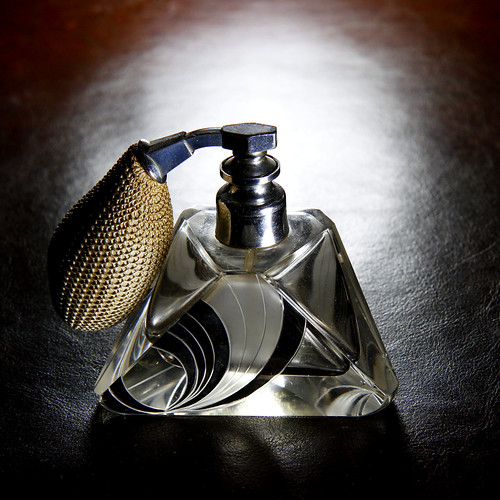 Art deco perfume atomizer