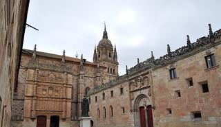 Patio de las Escuelas Mayores de la Universidad de Salamanca.