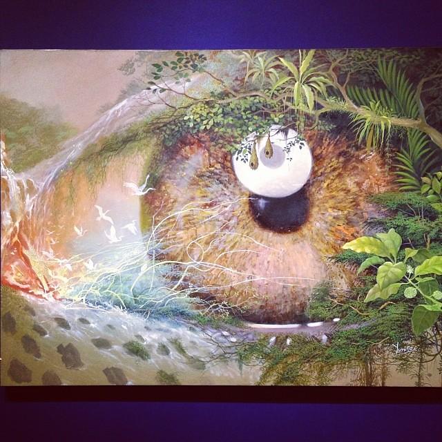 """Jose Luis Rodriguez Ysmiño  """"Usko Ayar"""" • """"La escuela de las Visiones"""" #art #arteenlima #artinlima #arte #artist #artista #painting #pintura"""