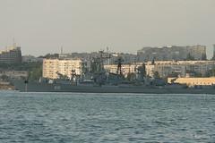 Севастополь, военные корабли в Севастопольской бухте