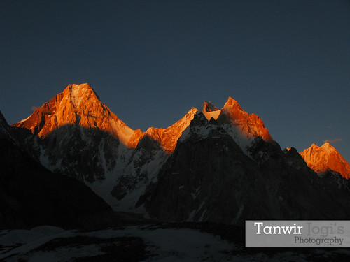 Last Light on Gashabrum Range (International Mountain Day)