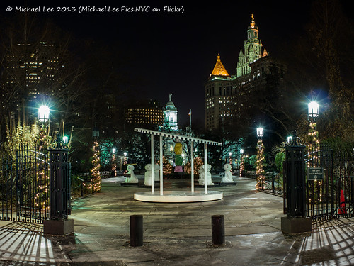 City Hall Park Night Panorama