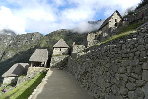 Peru Machu Picchu Terrazas De Cultivo Andenes Casa Del