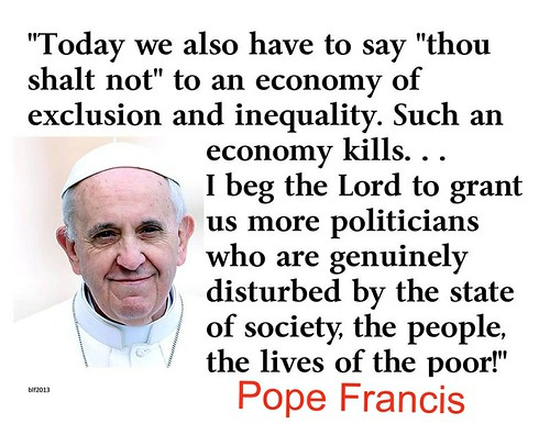 Pope Francis on capitalism and trickle-down economics