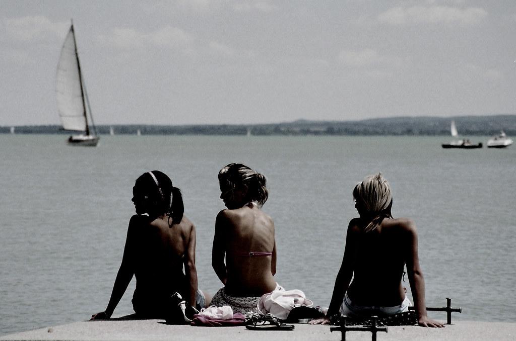 balaton girls Travelohu reports on a new high-quality video that shows a catamaran, a naked wake-boarder girl and a sailboat on lake balaton the idea of.