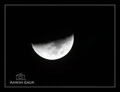 7/365 - (Day-7) - Beauty of Moon (Ashish Gaur - www.ashishgaur.com) Tags: camera moon india nature lens photography photo photographer tripod pic uttaranchal click dslr ashish dehradun naturephotography chand clickr gaur dehradoon uttarakhand beautyofnature ashishgaur chandrama sgrr kanwali wwwashishgaurcom