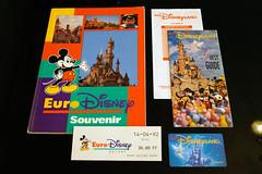 Euro Disneyland Opening Week (DLPTreasures) Tags: 1992 brochure eurodisney disneylandparis eurodisneyland admissionticket openingweek souvenirbook