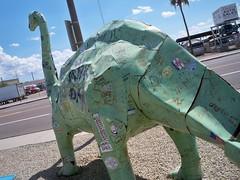 STICKERSAURUS (JOHN 146) Tags: stickerart dinosaur stickers gasstation jesussaves slaptag john146