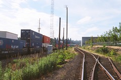 (rozuhlee) Tags: color film train 35mm portland trackside exploregon