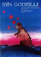 Polish Son of Godzilla poster, 1974 (Tom Simpson) Tags: illustration vintage 1974 design movieposter 70s 1970s posterart gojira kaiji sonofgodzilla {vision}:{outdoor}=0989 {vision}:{sky}=0883 {vision}:{sunset}=0569