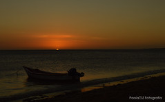 At the end of Sunset (Paola Marín) Tags: sunset sol beach atardecer botes nikon barcos playa arena final end naranja casi nikond3200 d3200 crepsculo
