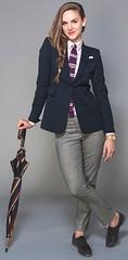 Karyn Bailey (bof352000) Tags: woman fashion shirt costume femme tie class suit mode necktie elegance cravate strict chemise businesswoman affaire vision:people=099 vision:face=099 vision:outdoor=0752