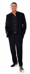 David Chilton - black loafers (TBTAOTW2011) Tags: boss man black senior smile leather businessman shoe shoes pants handsome business suit belly mature loafers loafer