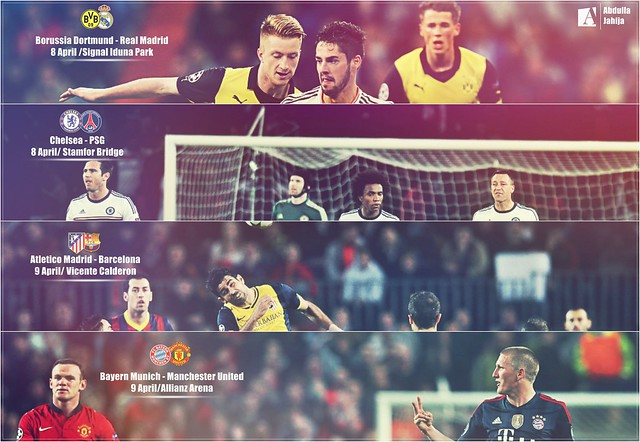 Who will go to the semi finals of Champions League ?