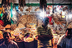 In Local Dry Fish Market (Sukanta Maikap Photography) Tags: india streetphotography kolkata calcutta westbengal canon450d sealdahstation canon1855mmf3556is marriageinvitationcardshop