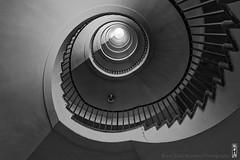 spiral stairs (alamond) Tags: stairs spiral artdeco skyscraper nebotičnik landmark architecture light bw blackandwhite monochrome canon 7d markii mkii llens ef 1740 f4 l usm alamond brane zalar