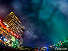 When lights make the Sky colourful and thunder makes it beautiful! (souravmojumder) Tags: long exposure skyline night phtography thunder storm