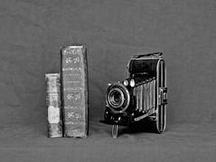 still life#18 (paul grass) Tags: oldcamera camera decay books libri darkroom olympusom1 adox stilllife