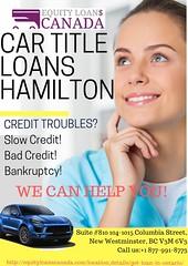 Car Title Loans Hamilton (equityloanscanadaseo) Tags: cartitleloans cartitleloanstoronto cartitleloansontario cartitleloanlondon car title loans hamilton