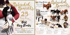 JIAN Splendid Spaniels (The Epiphany April '17) ([JIAN]) Tags: secondlife mesh pet companion kingcharles spaniel cavalier dog canine puppy gacha jian