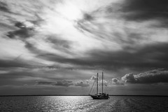 Schooner (RobMatthews) Tags: seaofabaco caribbean schooner boats bw sky monochrone bahamas weather sailboat clouds