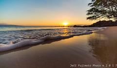 Ulua Beach Sunset, Wailea, Maui (j . f o o j) Tags: maui haleakala hawaii aloha cloudporn skyporn foamporn ulua beach uluabeach