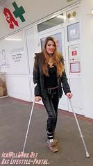 Pia von IchWillMehr.net (IchWillMehrPortale) Tags: beauty nerd piapial ichwillmehr overknees highheels sexy lederleggings hotpants bh leggings