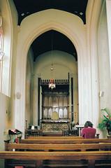 Christchurch White Tabernacle (Matthew Huntbach) Tags: christchurch tabernacle white eltham fujisuperia400 sanctussanctussanctus