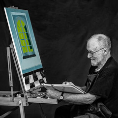 Mixing (Roger Walton) Tags: bcc whalleytom painting portrait york northyorkshire england