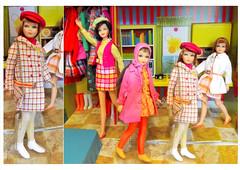 GLAD PLAIDS (ModBarbieLover) Tags: skipper doll mod tnt 1967 1968 1969 casey barbie pink yellow