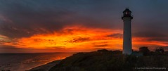 Sunset Over The Beach (Lachlan Manley Photography) Tags: sunset lighthouse orange seashore seaside redskies