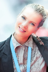Sonja (Nemanja Zotovic PHOTOGRAPHY) Tags: portrait girl woman bokeh light smile business background canon eos1dsmarkiii ef135f2lusm outdoor