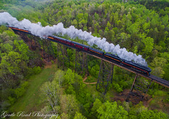 611 at Kate's Creek (grady.mckinley) Tags: kates creek trestle goodview virginia norfolk southern virginian railway steam excursion